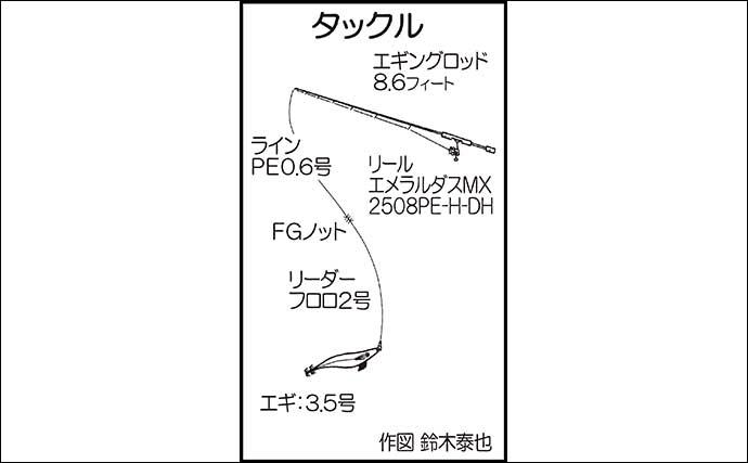 エギングで500g頭に2匹 狙いのキロアップはリベンジ案件【福岡・志賀島】