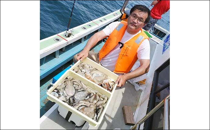 【愛知】沖釣り最新釣果 良型サワラ絶讃回遊中にマダコ好調で2桁釣果