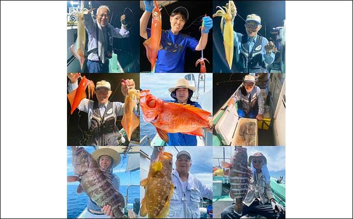 【響灘】沖釣り最新釣果 夜焚きイカ好調継続&落とし込みでヒラマサ