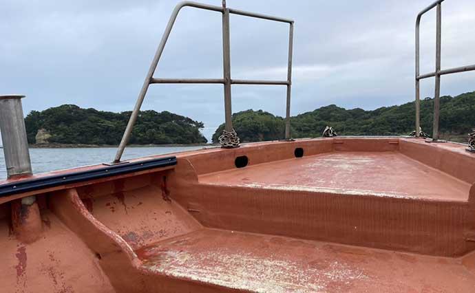 沖テトラでエギング&根魚ゲーム キロ級アオリに40cmキジハタ【福岡】