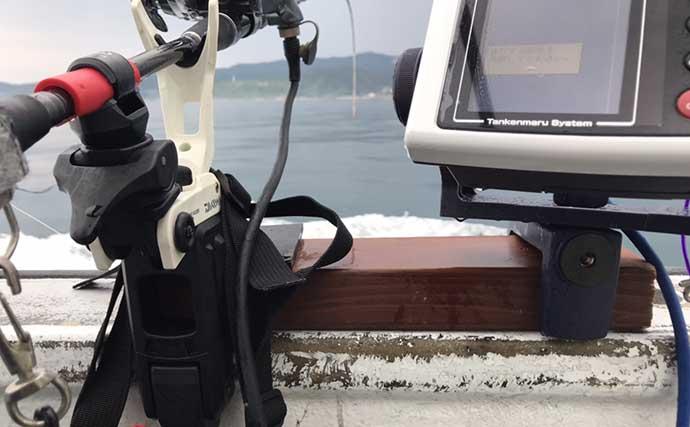 釣り人的『スーパーライトDIY(SLD)』:探見丸船べり固定用アイテム