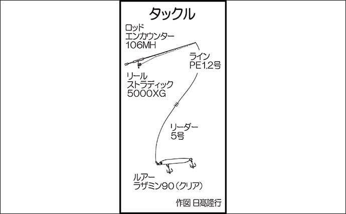 シーバスゲームで60cm本命 ルアー選択はフック刺さり具合で判断する?