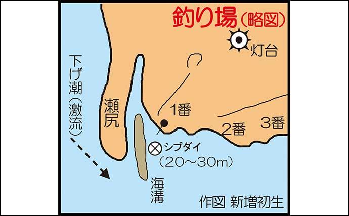 夜の沖磯「ブッ込み釣り」で53cm頭にシブダイ連打に満足【鹿児島】