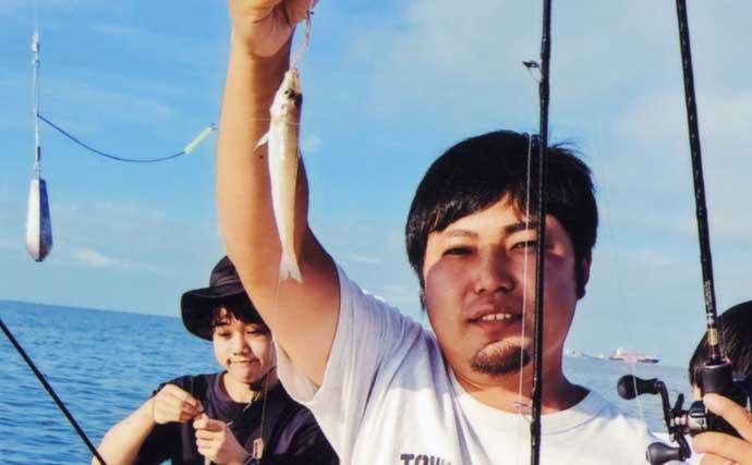 ボートキス釣りで20cm頭に62匹 ダブルヒット連発【愛知・新舞子沖】