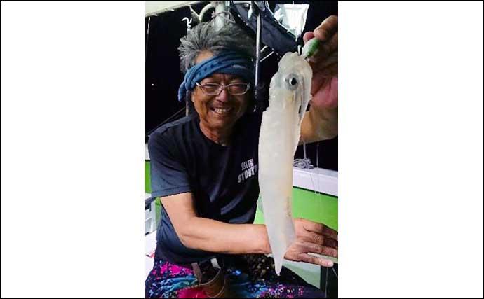 【大分・熊本沖】沖釣り最新釣果 夜焚きケンサキイカ釣りが好調