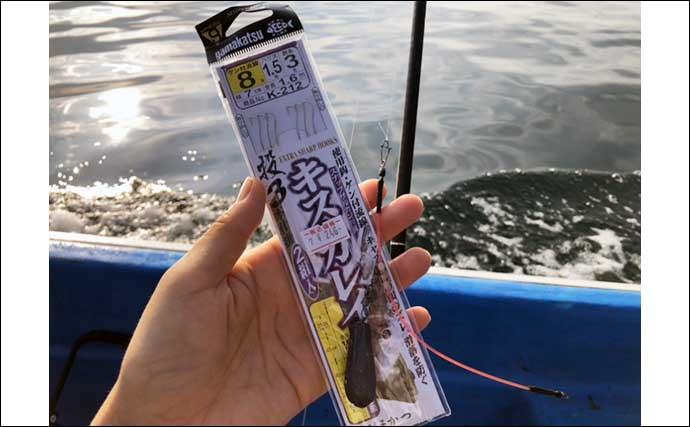 船キス釣りで大型乱舞 尺超えに25cm級ダブルなど満喫【大分・蒲江】
