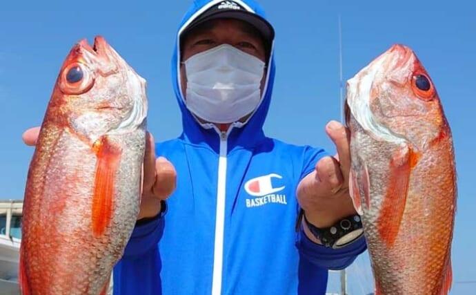 【2021】常磐沖アカムツ釣り解説 浅場で40cm後半の大型が狙える