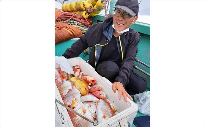 【福岡】沖釣り最新釣果 落とし込みで大型マダイにヒラマサ数釣りも