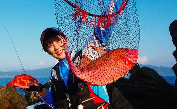 ロックゲームとフカセで「磯釣り」を堪能 初魚種『ニジハタ』に満足