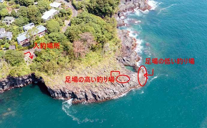 地磯「カゴ釣り」で40cm大サバ 『釣りドコ』で海中も陸上も丸見えに?