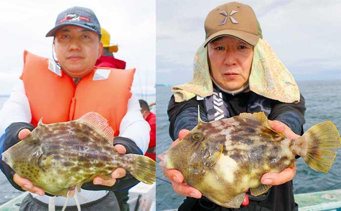 開幕直後の船カワハギ釣りで20cm後半の良型続々 シンプル仕掛けが吉?