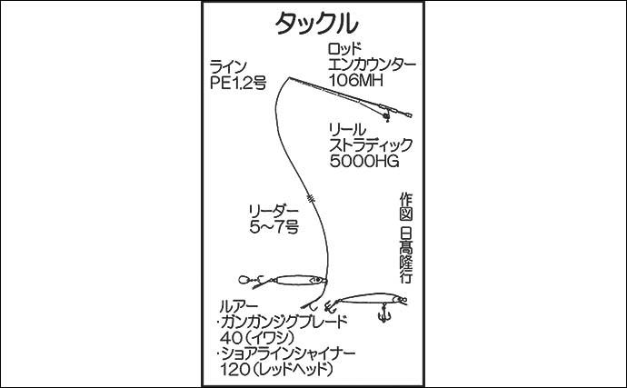 磯ヒラスズキゲームで70cm級頭に連発 スマガツオも顔出し【鹿児島】