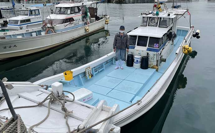 テンヤ釣りで良型マダイ 悪天候時にはタングステンが活躍?【福岡】