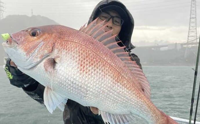 テンヤ釣りで64cm頭にマダイ2ケタ釣果 キャストで漂わせる釣りとは?