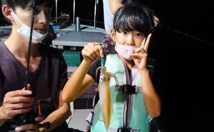 【福井】沖釣り最新釣果 夜釣りのマイカ堅調でまだまだ狙い目