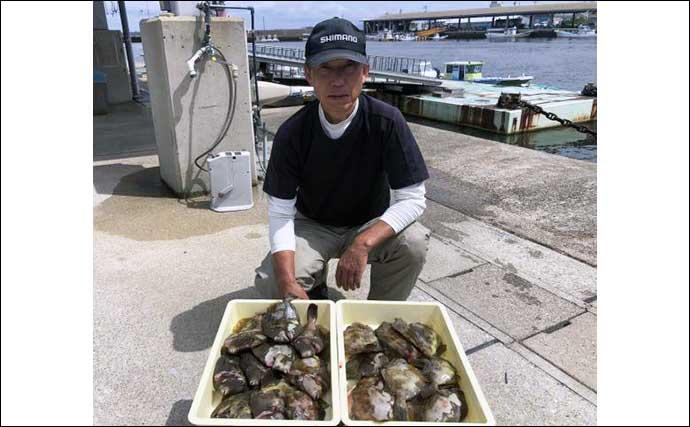 【愛知・三重】沖のエサ釣り最新釣果 イサキやカワハギ船で良型続々