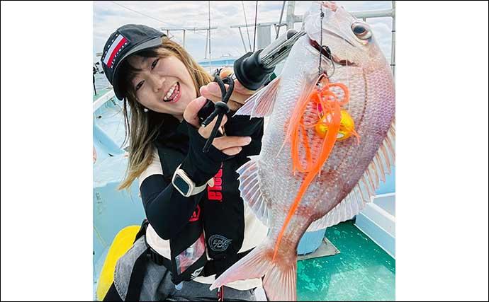 午後船で楽しむ「ひとつテンヤマダイ」釣り 魚種多彩にヒット連発