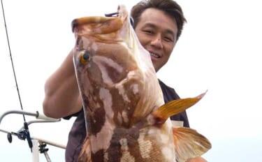【響灘】沖釣り最新釣果 ジギング&落とし込みで良型アラ(クエ)登場