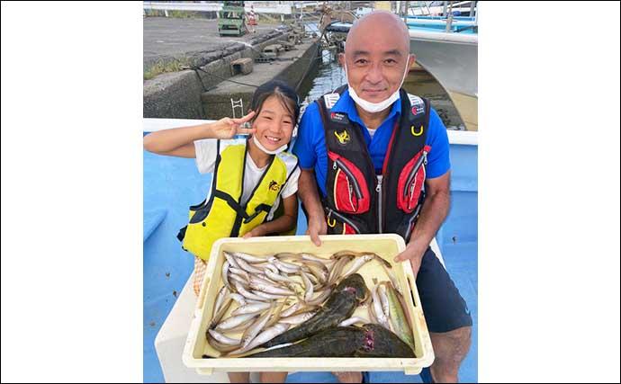 【愛知】沖のエサ釣り最新釣果 タチウオ&カワハギで数釣り好機到来