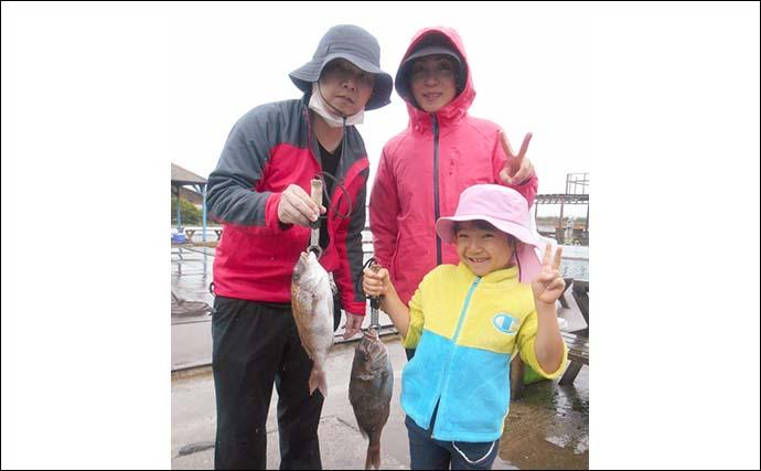 陸上型海水管理釣り場でファミリー笑顔 常連は圧巻のマダイ&青物釣果