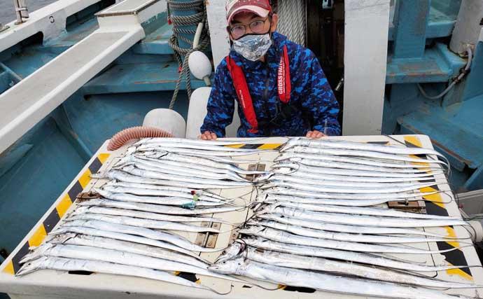 【愛知】沖釣り最新釣果 タチウオ・カワハギ・キスで数釣りチャンス