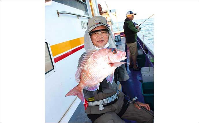 テンヤマダイ釣りで本命3尾 船中好ゲストにイシガキダイやマハタも