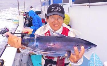 相模湾コマセカツオ釣りで船中ホンガツオ0~3尾 5kg級など良型が中心