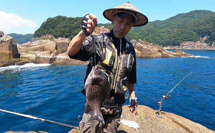 初挑戦の底物釣りで本命イシガキダイと対面 速潮&エサ取りに大苦戦