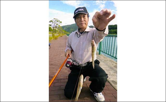 投げ釣りでハゼ&キス狙い 想定外の好ゲストに57cmスズキ