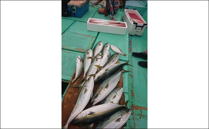 今週の『船釣り情報』特選釣果:落とし込み好スタートで多彩魚種登場