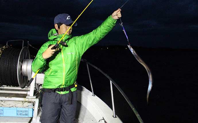 伊勢湾「テンビンタチウオ釣り」の1日を紹介 時間帯別攻略法とは?