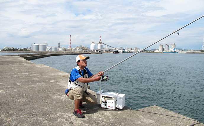 1時間半の投げキス釣りで21cm頭に本命10匹 好ゲストに41cmチヌ