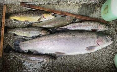 初場所の管理釣り場で60cm級頭に多彩魚種連発 魚影の濃さに驚愕?
