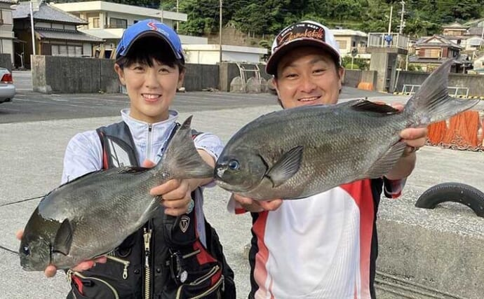 真夏の恒例イベント「オナガ」釣りを満喫 46cm筆頭に連発する時間帯も