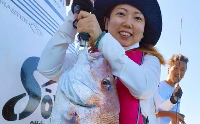 【大分・熊本】沖釣り最新釣果 タイラバで80cm級「大ダイ」続々
