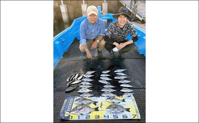 【三重】カカリ釣り最新釣果 45cmオーバー頭に秋クロダイ好調継続中