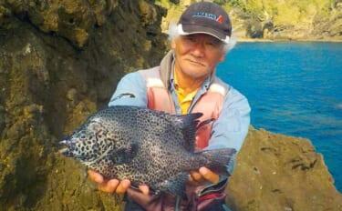 沖磯での石物釣りで入れ食い堪能 イシダイ不発もイシガキダイ13尾