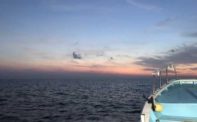 チャーター船で行く中深場コマセ釣り クロムツ全員安打にメダイも登場