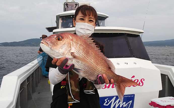 釣り好き女子の休日 マダイ釣りに欠かせないお供は『ちゃんぽん』?